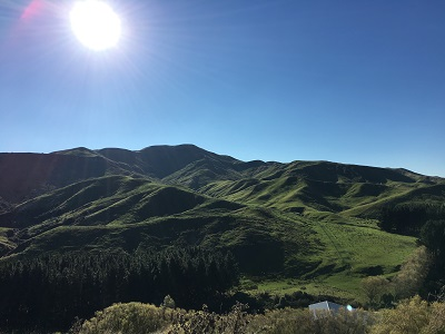 ニュージーランドの秋の空