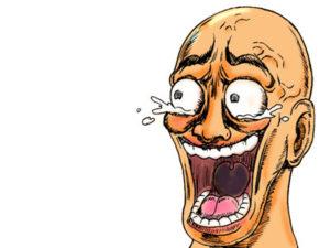 爆笑する男